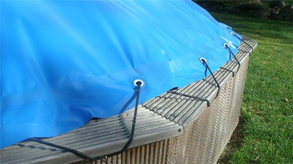 2 Aufblasbare Haube - Gummiseil zur Befestigung - per LFM