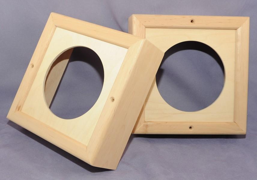 Holzrahmen für Lautsprecher Sauna - 2 Stk