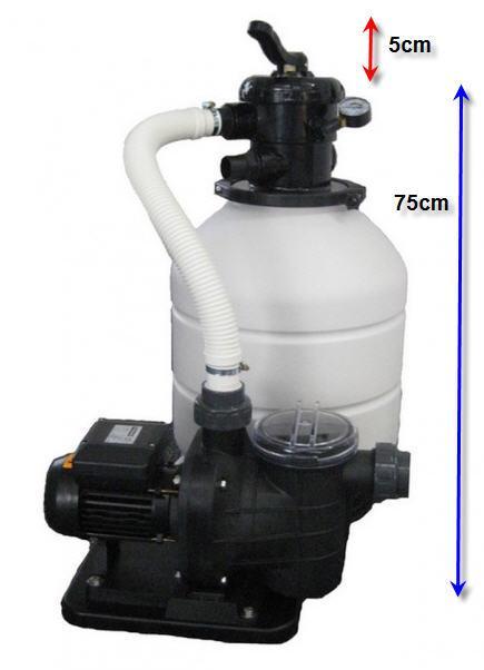 Sandfilteranlage MONO 500 - mit TORPEDO 75 - 11,5 m3/h