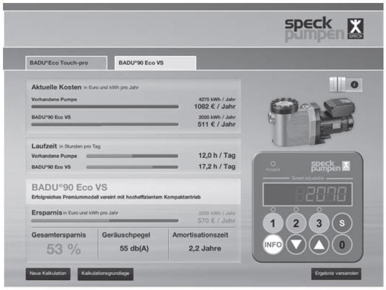 SPECK Pumpe Badu Eco Touch PRO