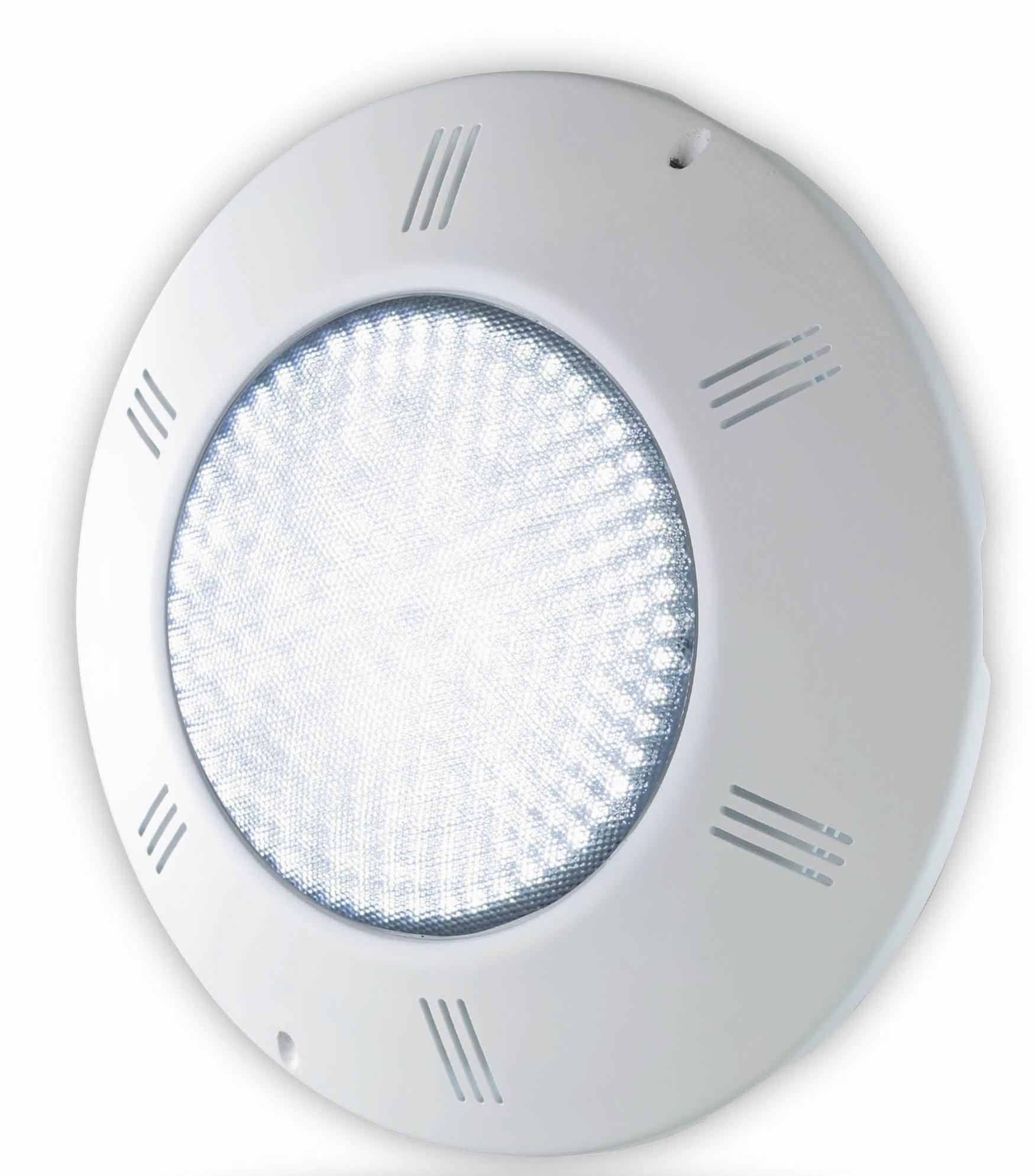 LED Scheinwerfer FLACH - WEISS inkl. Einbauset
