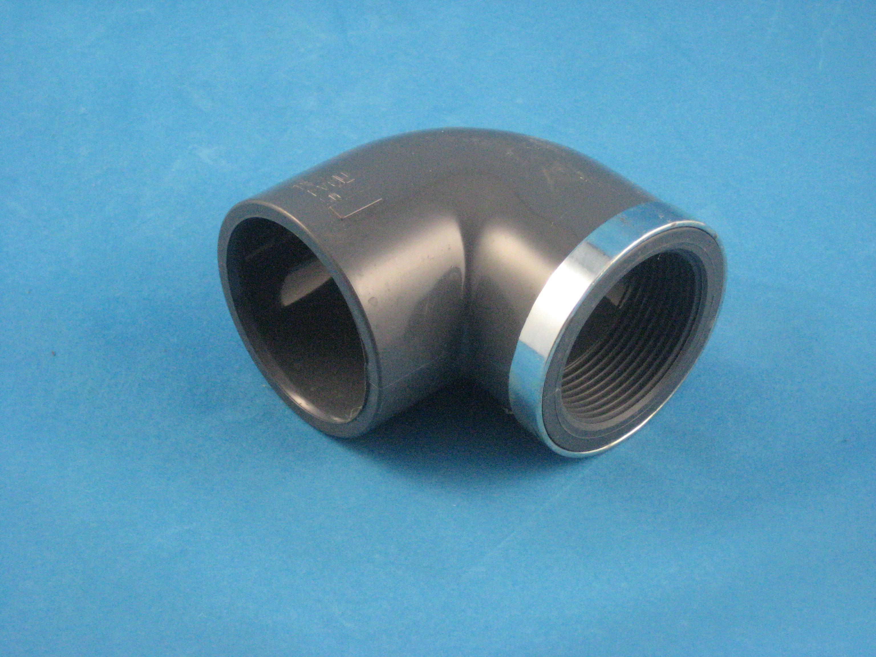 PVC Winkel 90° D63 - 2'' IG