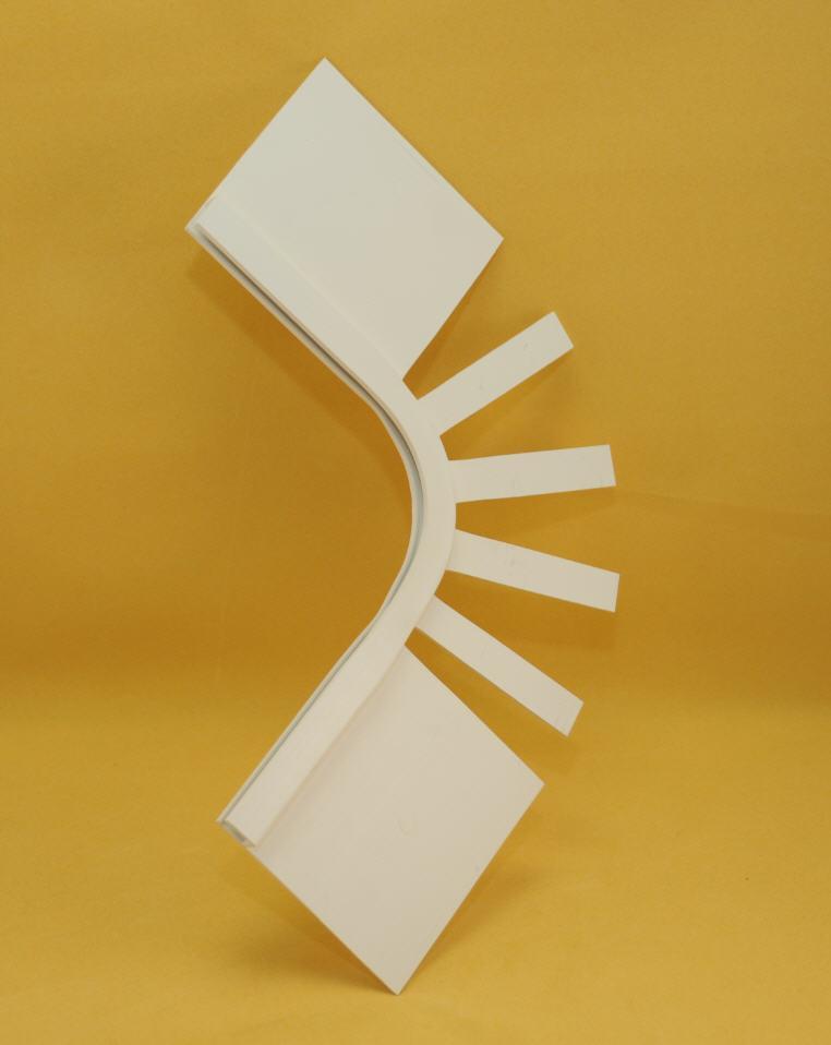 Eckprofil 90° - Breite 105 mm - für Folie Modell 3