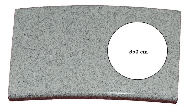 Poolumrandung Rundbecken Granit 350 / 360 cm