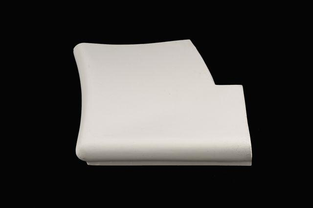 Randstein Aussenecke gerundet zu röm. Treppe R-150 cm (LI + RE)