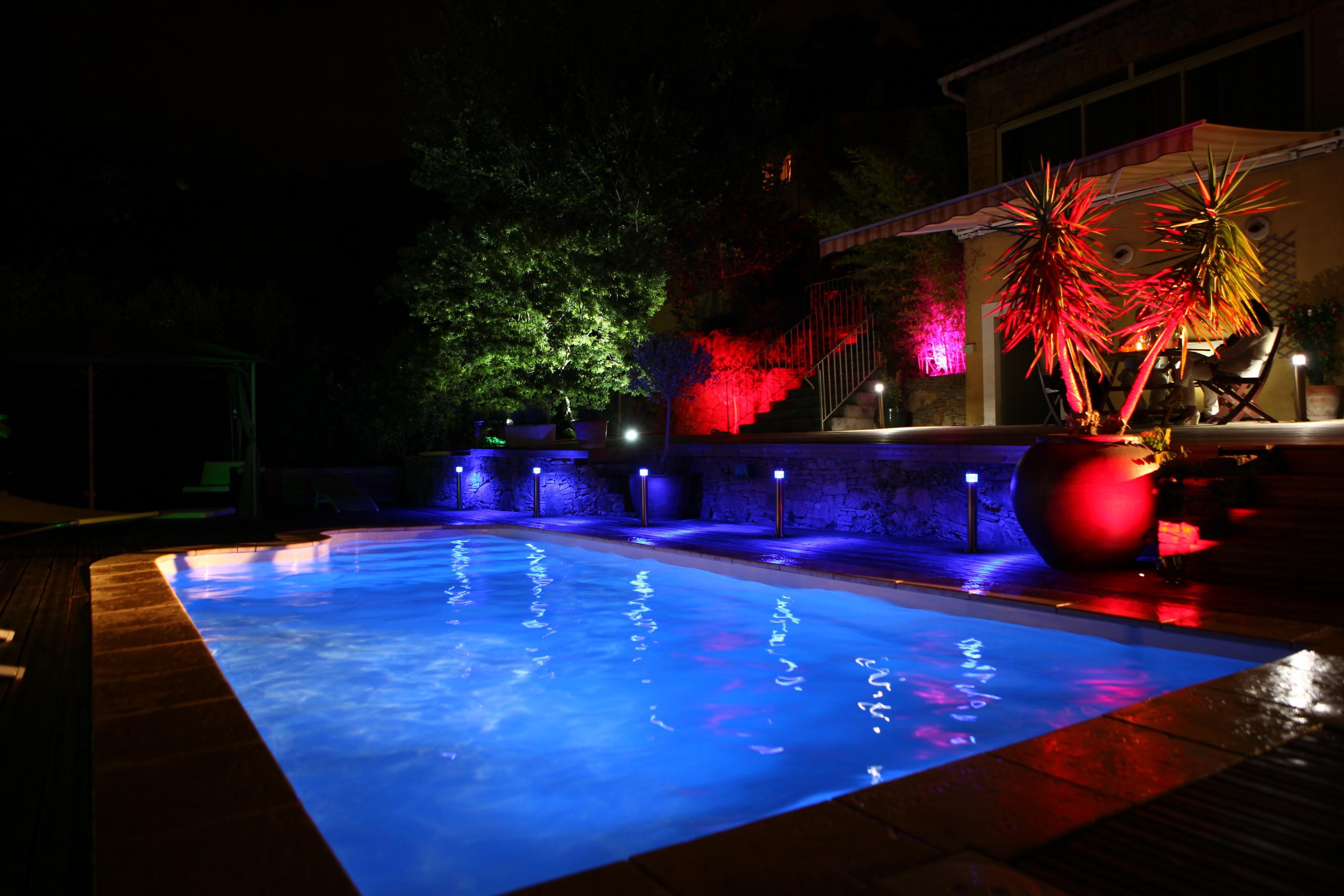 Pool- und Gartenbeleuchtung SET