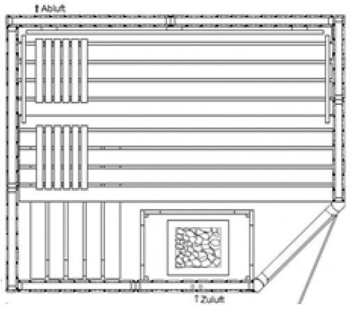 AKTION - Elementsauna Harmonie 14 - 2,01 x 1,65m 5-Eck