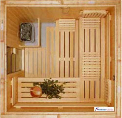 AKTION - Elementsauna Harmonie 2 - 2,01 x 1,65m 4-Eck
