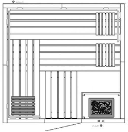 AKTION - Elementsauna Harmonie 4 - 2,01 x 2,01m 4-Eck