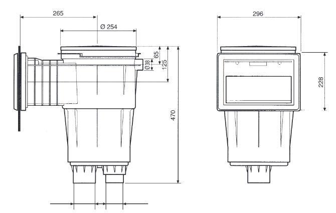 ASTRAL Einbauskimmer I - Saugöffnung 21x15 cm - Tiefe 418 mm