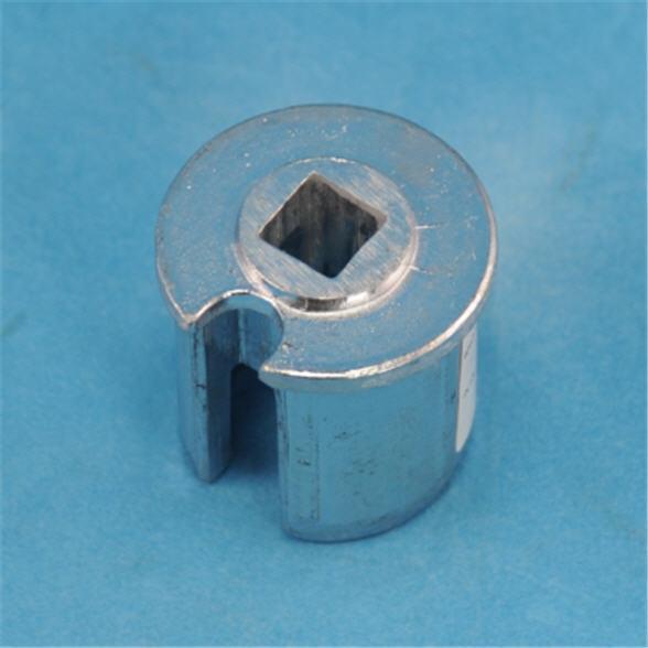 Alu - Nutrohrendkappe mit 13 mm Innensacklock - f. Rohr 50/2 mm