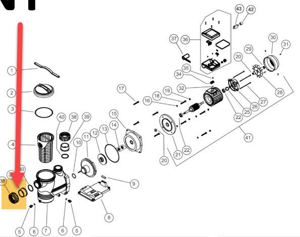 Anschlussverschraubung Pumpe NIAGARA - per Stk. (ohne (O-Ring)