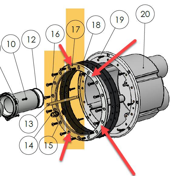 BOMBA - Flansch zu Einbautopf (Gegenstromanlage)
