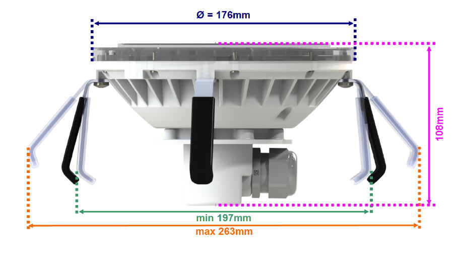 CHROMA Led Scheinwerfer Einsatz für PAR56 - WEISS