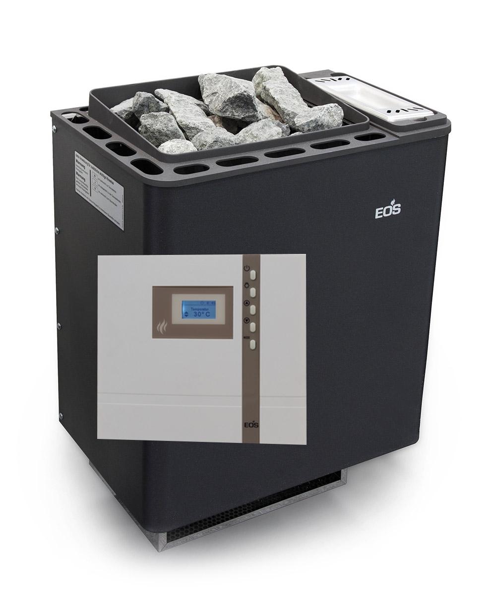 EOS Kombiofen SET Bi-O Therme 7,5kW mit Steuerung H1