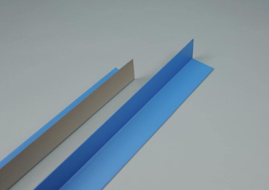 Folienbeschichteter Blechwinkel 50 x 50 x 2000 mm - innen