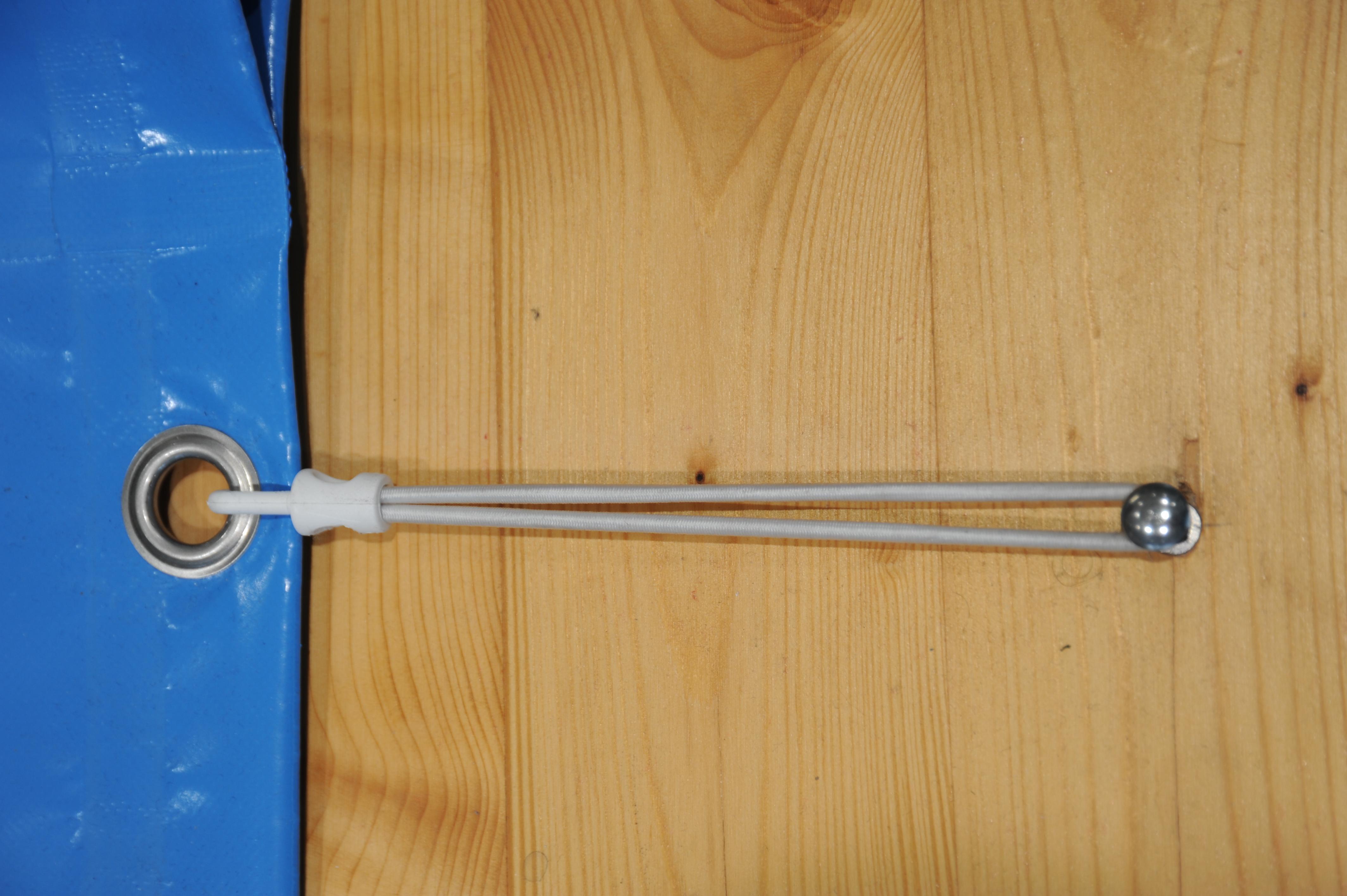 Gummiexpander - zur seitlichen Verspannung der Folie
