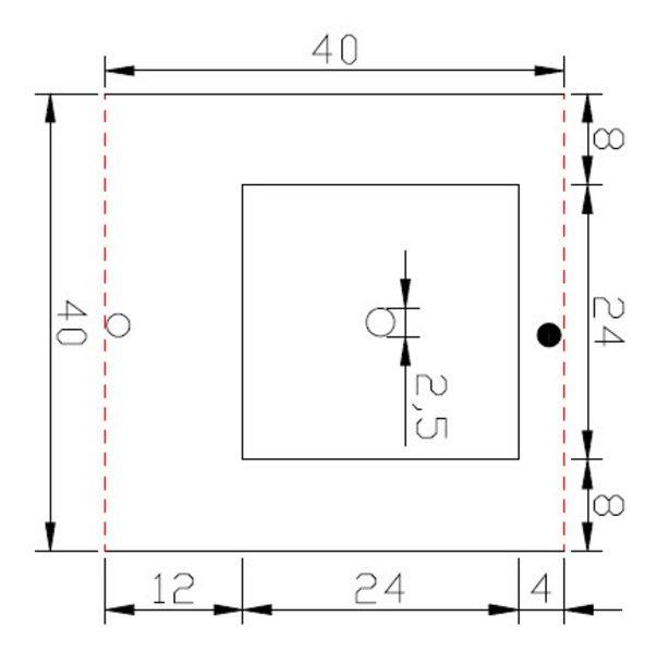 High Level Granit - SKIMMERSTEIN - 40/40/3 cm - DUNKEL - G654