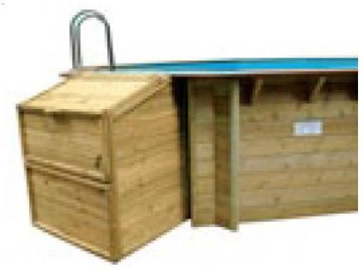Holzpool Filterkasten, Kiefer H 133
