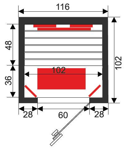 Infrarotkabine Infrawave RR-113