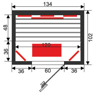 Infrarotkabine Infrawave RR-133