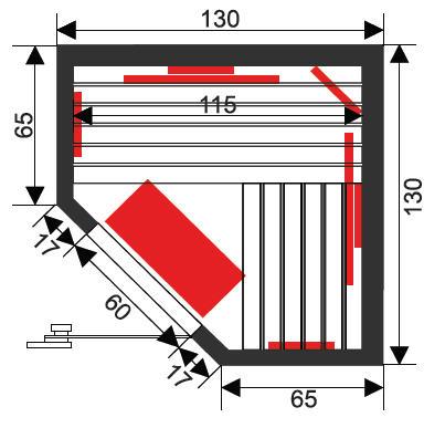 Infrarotkabine Infrawave RR-133 ECK