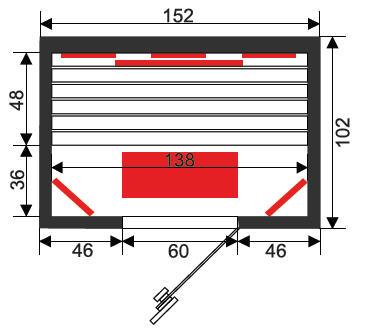 Infrarotkabine Infrawave RR-153