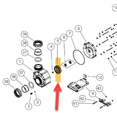 Laufrad 4,0 kW (5,5) - Bomba Gegenstrompumpe