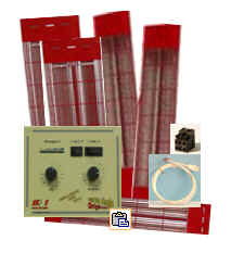 Magnesiumstrahler Set 3 - für Kabine 150 x 120 x 200 cm