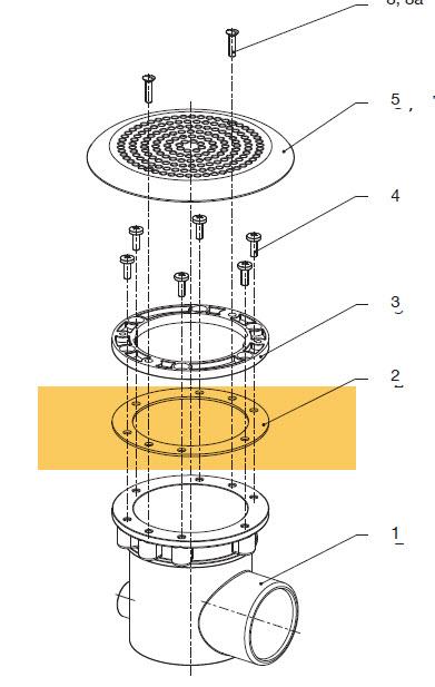NEPTUN - Dichtung für Bodenablauf A=135 I=102 x 2 mm
