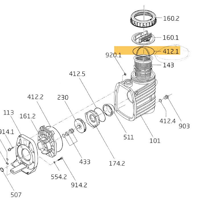 O-Ring für Deckel Speck Pumpe-Bettar (Vorfilter)