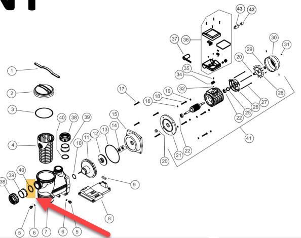 O-Ring zu Verschraubung zu NIAGARA Pumpe - 2