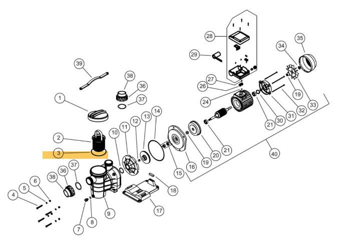O-Ring zu Vorfilterdeckel Torpedo Pumpe