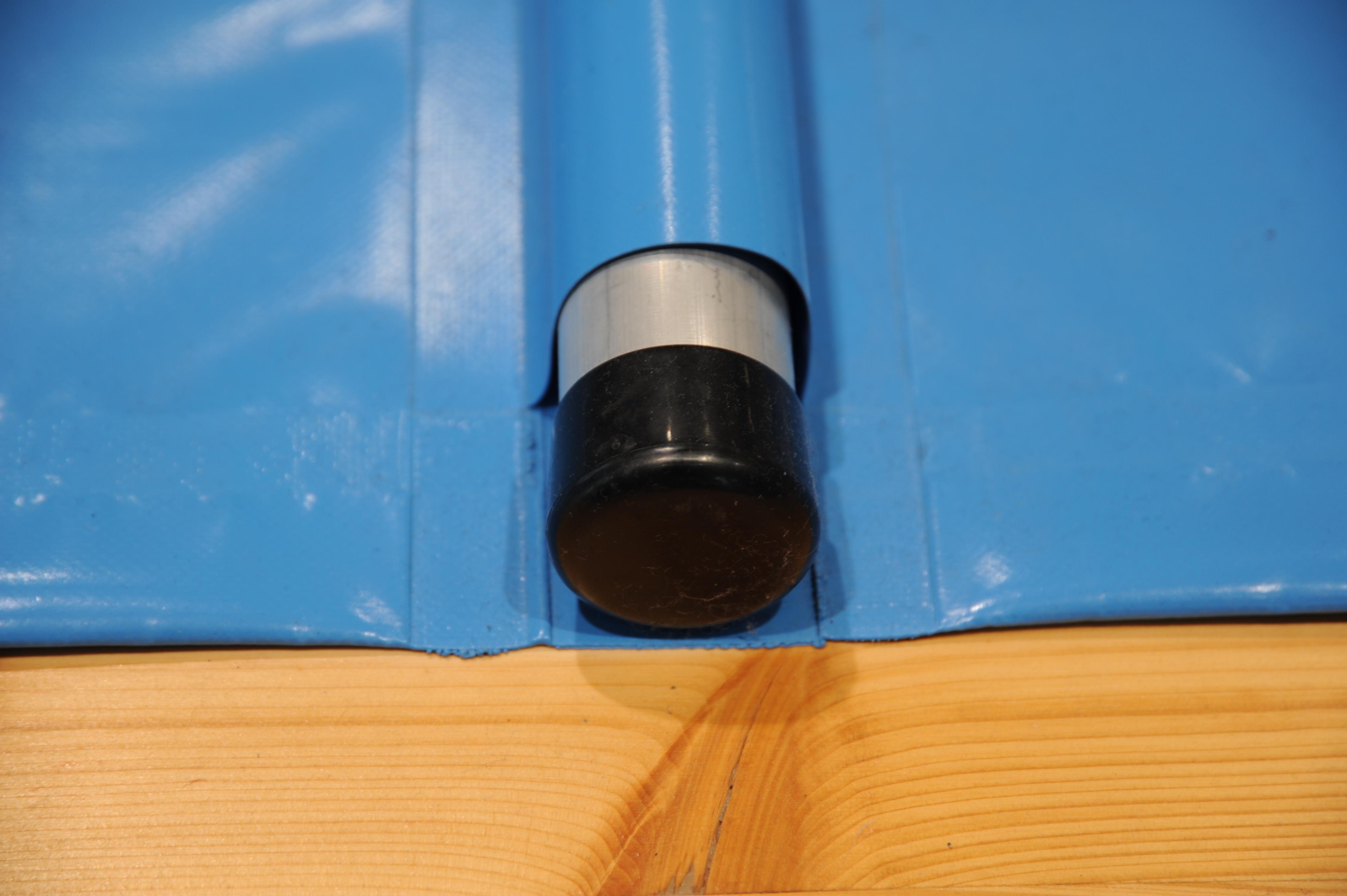 PVC Abschlußkappe 40 mm Rohr. Farbe.: schwarz