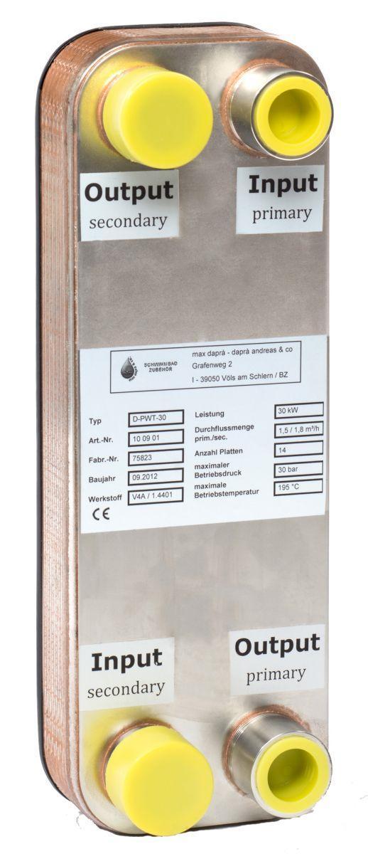 Plattenwärmetauscher D-PWT 30/30 KW V4A