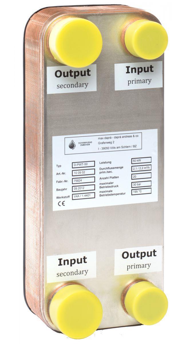 Plattenwärmetauscher D-PWT 50/50 KW V4A