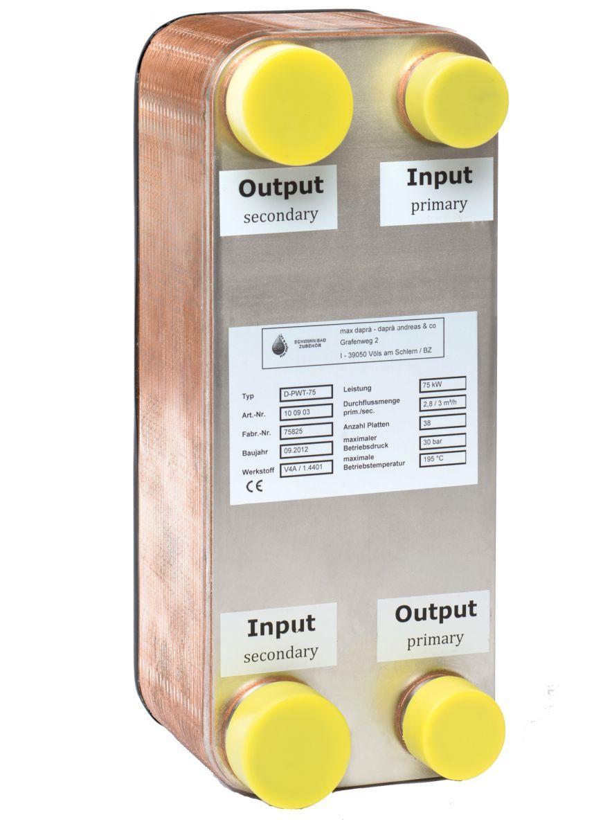 Plattenwärmetauscher D-PWT 75/75 KW V4A
