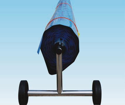 Reflektierende Schutzplane für 4 m Breite