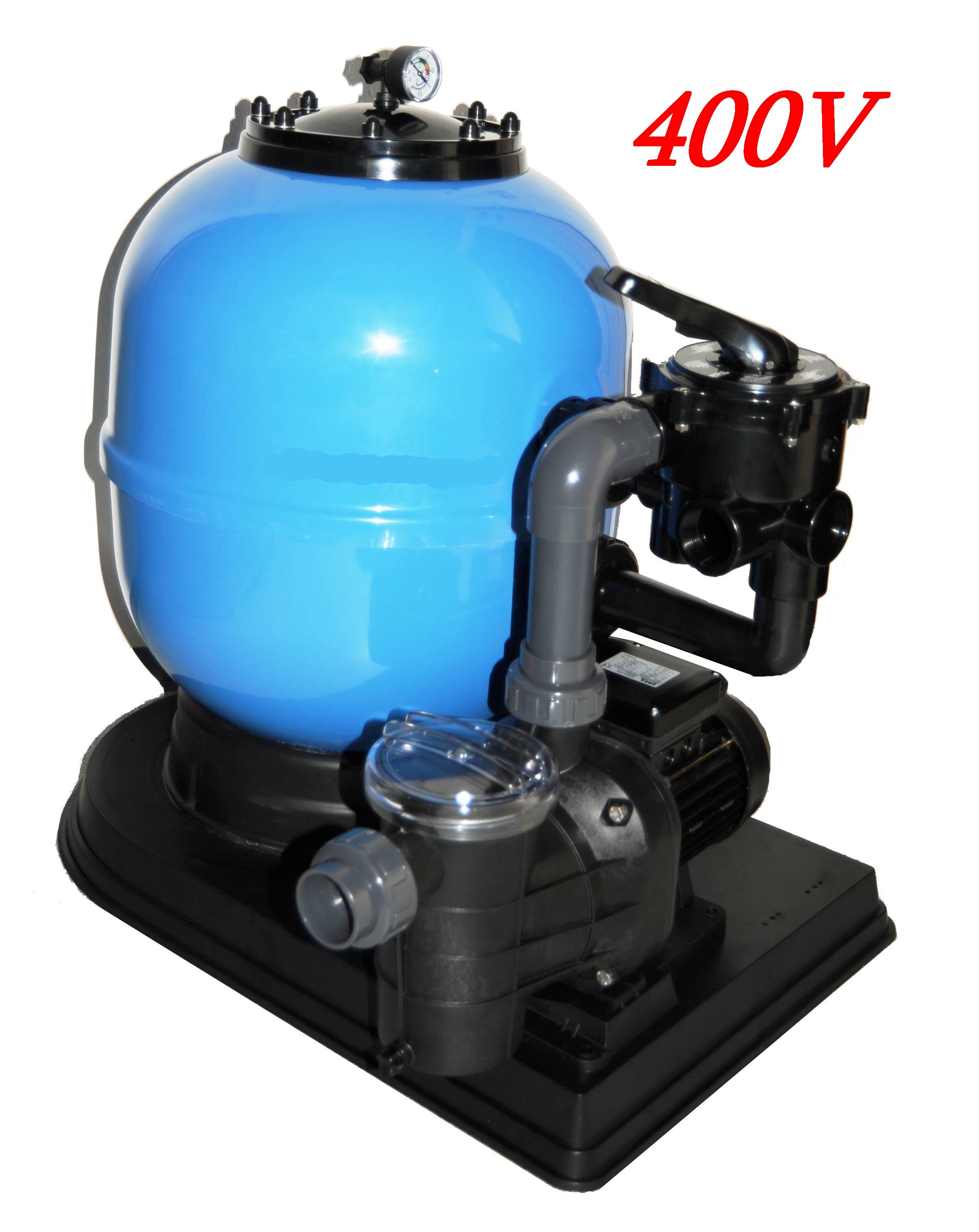 Sandfilteranlage LISBOA 600 - mit TORPEDO 100 - 400V !! - 15 m3/h