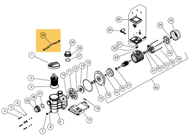 Schlüssel zu Vorfilterdeckel Torpedo Pumpe