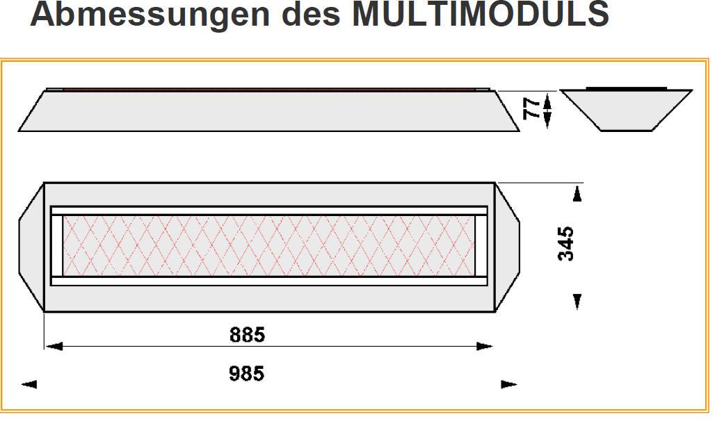 Vollspektrumstrahlerset DECKE - Philips Vitae 1300W