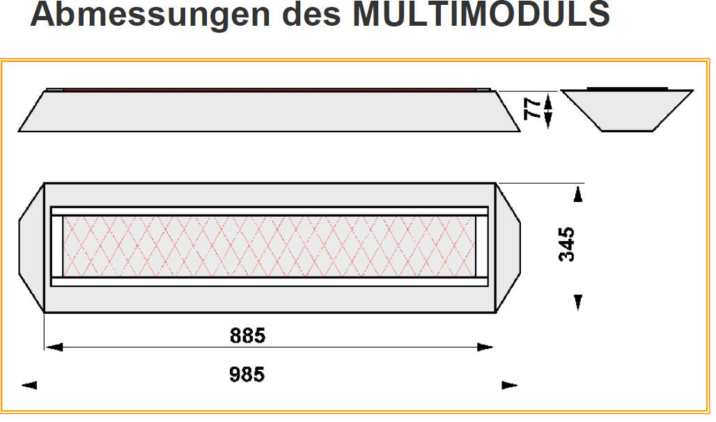 Vollspektrumstrahlerset VORNE - Philips Vitae 750W