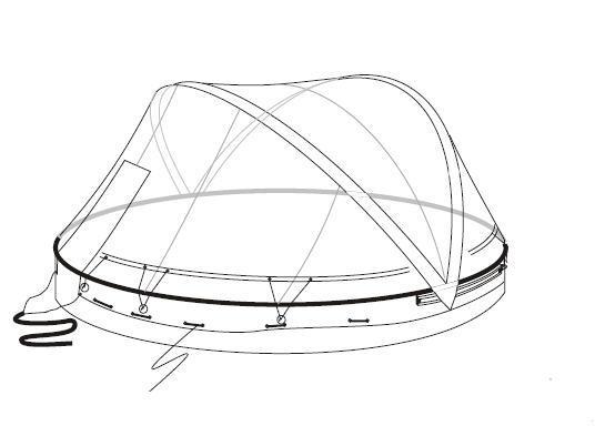 Ersatzfolie zu Cabrio Dome 490 cm - Holzbecken
