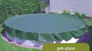 Pool Abdeckplane PEB 200gr - OVAL - 916x460 cm