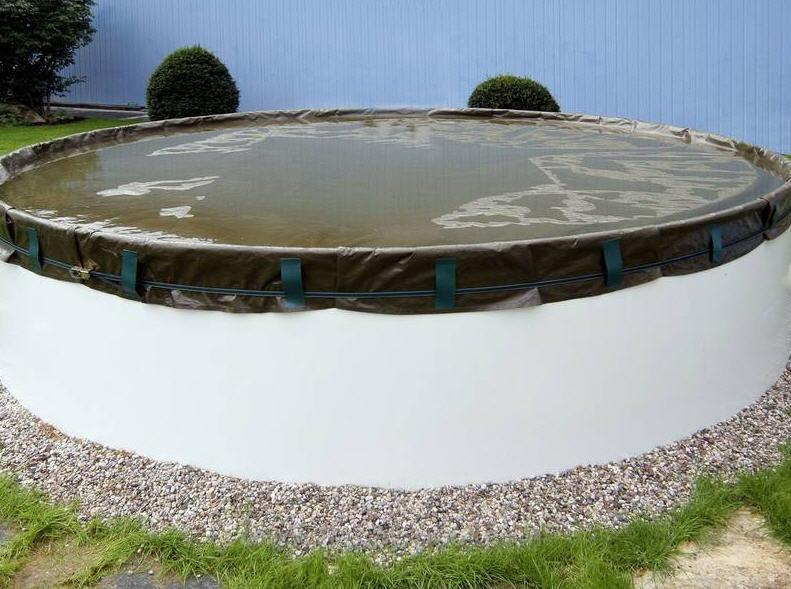Pool Winterabdeckplane PREMIUM für Ovalbecken 820 x 420