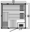 Elementsauna EXCELLENT 3 - 2,00 x 2,00 x 2,00 m