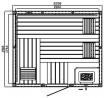 Elementsauna EXCELLENT 8 - 2,26 x 1,92 x 2,00 m