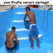 Gewebefolie - Verlegung - Römer Stufe - über 250 cm Breite