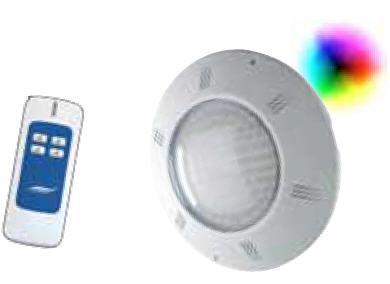 LED Scheinwerfer FLACH - RGB mit Fernbedienung inkl. Einbauset