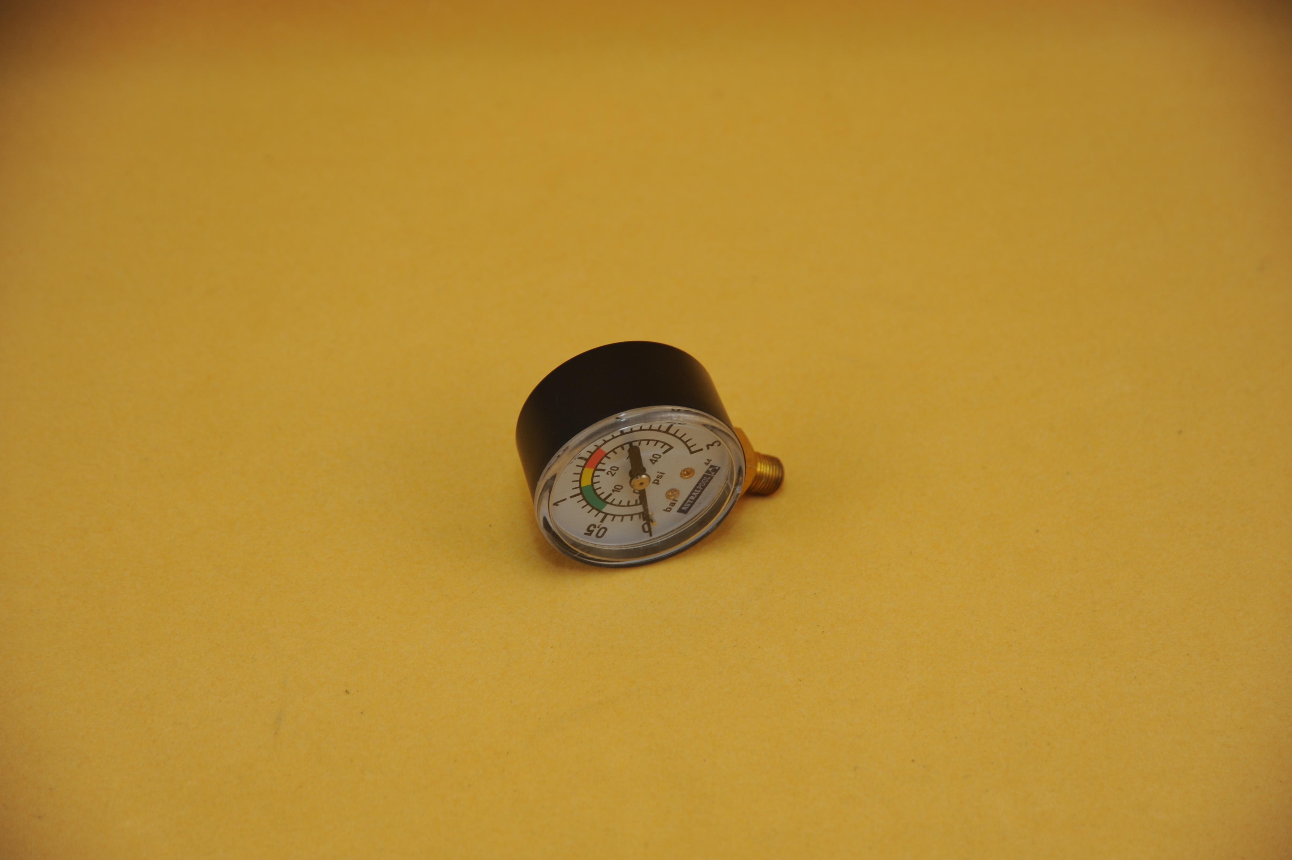 Manometer Filteranlage 1/8AG - Anschluss seitlich!